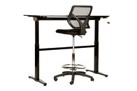 Black Desk for KMS Sales